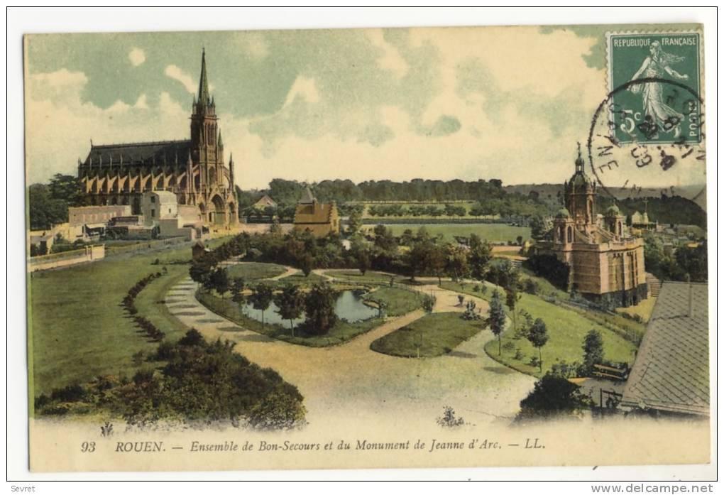 * ROUEN -  Ensmble Du Bon-Secours Et Du Monument De Jeanne D'Arc - Rouen