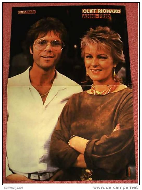 2 Kleine Poster  Nena  -  Rückseiten : Cliff Richard / Anni-Fried ,  Von Pop Rocky Und Bravo Ca. 1982 - Plakate & Poster