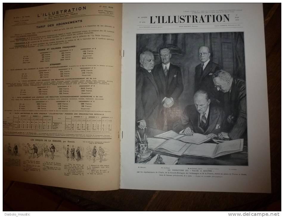 17-6-1933 : Rodez; Attentat Athènes Venizelos;Canonisation Fournet; Fêtes Coutances ;Blieskastel; Pompiers-marins - Zeitungen