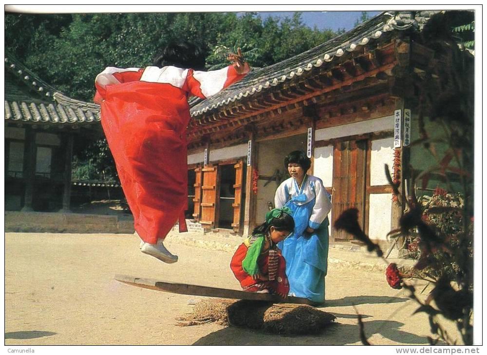 Corea Del Sud- Korean Traditional Customs Seasaw - Corea Del Sud