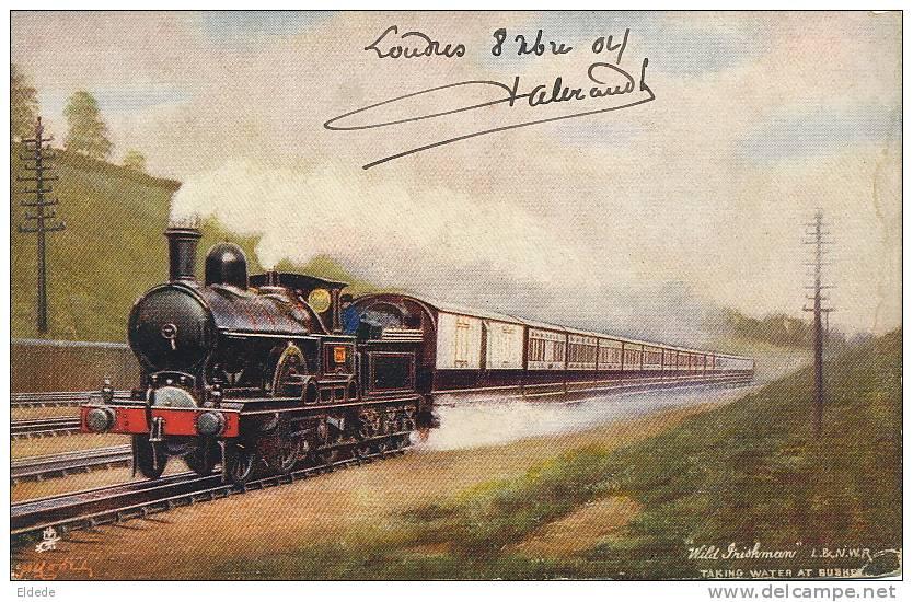 "Train "" Wild Irishman "" Taking Water At Bushey Famous Express - Irlande"