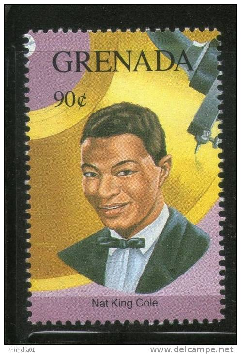 Grenada 1992 Gold Record Winners - Nat King Cole Sc 2156g Music Pop Singer Entertainers MNH # 2928 - Musique