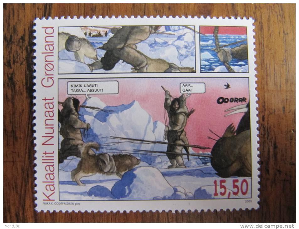 7631 BD Art Inuit Eskimo Chien Traineau Ours Polaire Polar Bear Dogsled Chasse Hunter Banquise Glace - Bandes Dessinées