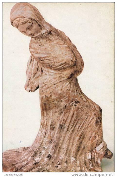 BR22100 Dancer Greek Terra Cotta Figure  Sculpture  2 Scans - Sculptures