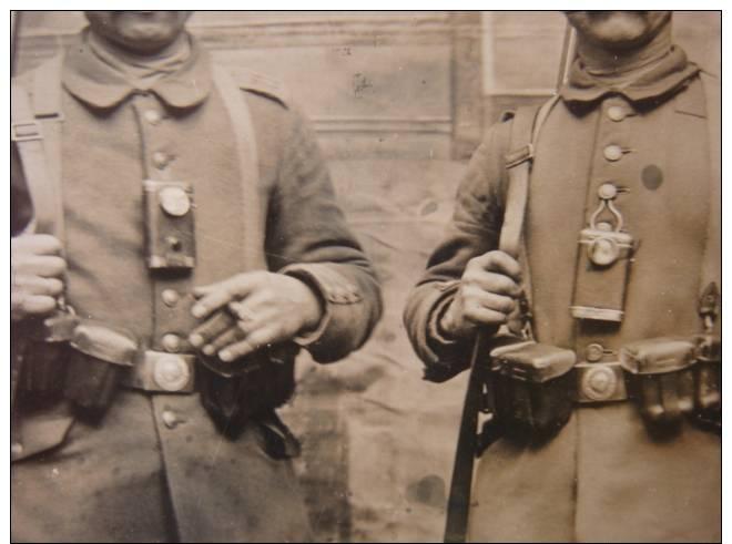WWI  -carte Photo - DEutsche Soldaten - Atelier - Taschenlampe - 13.Landwehr Division - Guerre 1914-18