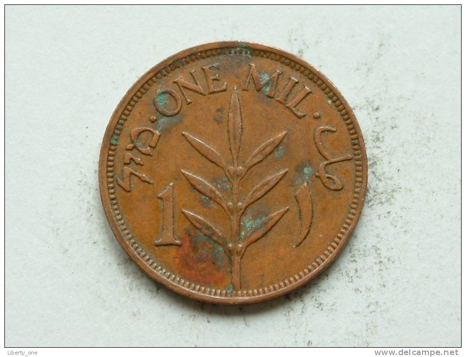 PALESTINE 1944 -  ONE MIL / KM 1 ( Uncleaned - For Grade, Please See Photo ) ! - Autres – Asie