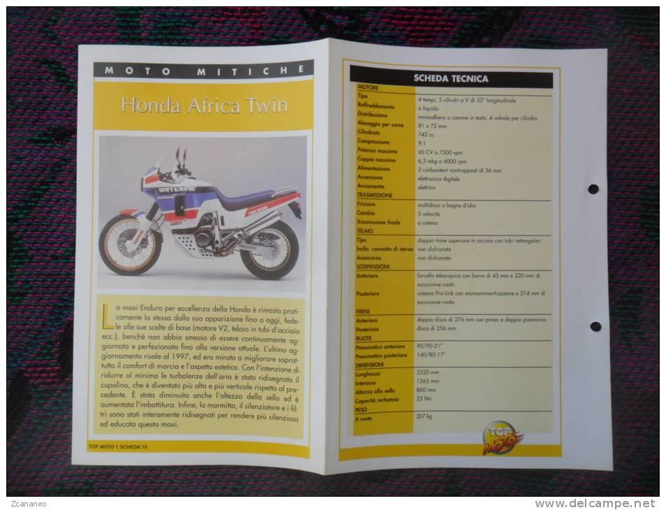 SCHEDA MOTO MITICHE TOP MOTO PER COLLEZIONISMO - HONDA AFRICA TWIN - - Motor Bikes