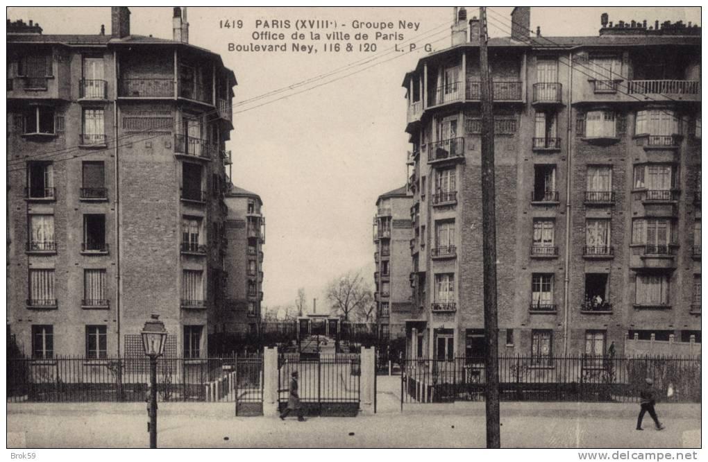 75 PARIS - GROUPE NEY - OFFICE DE LA VILLE DE PARIS - BOULEVARD NEY  116 ET 120 - Arrondissement: 18