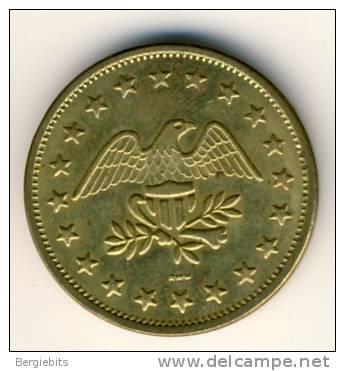 Golden Eagle Token With No Cash Value For Peep Shows BU - USA