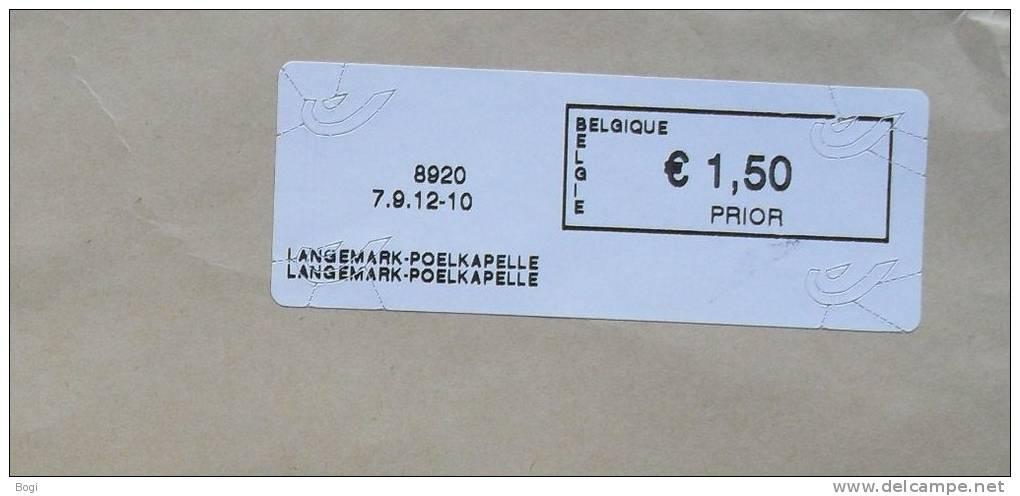 België 2012 Langemark-Poelkapelle 8920 - Fragment  - Nieuw Logo Bpost - Frankeervignetten