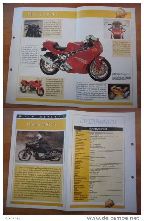 SCHEDA MOTO MITICHE TOP MOTO PER COLLEZIONISMO - DUCATI 900 SS - - Motor Bikes