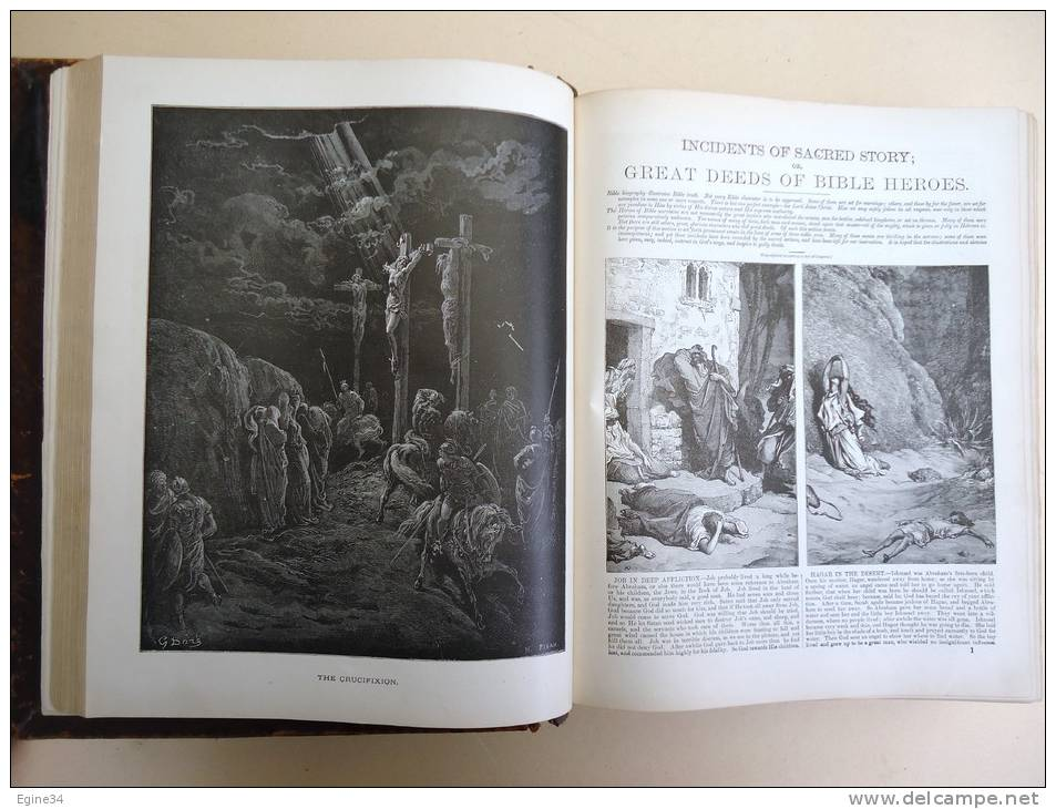 HOLY BIBLE - The Complete Domestic Bible Old And New Testaments - 1873 - Illustrations GUSTAVE DORE - Christianity, Bibles