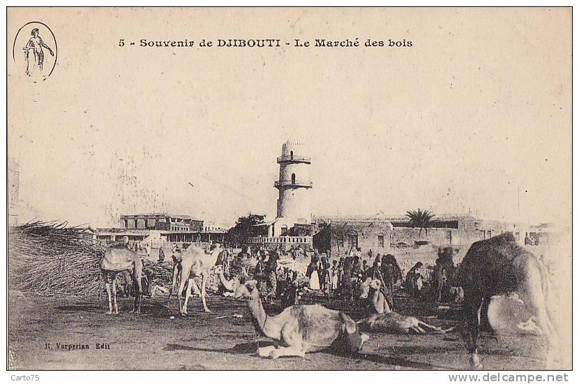 Afrique - Djibouti - Marché Bois - Tour - Editeur Vorperian - Djibouti