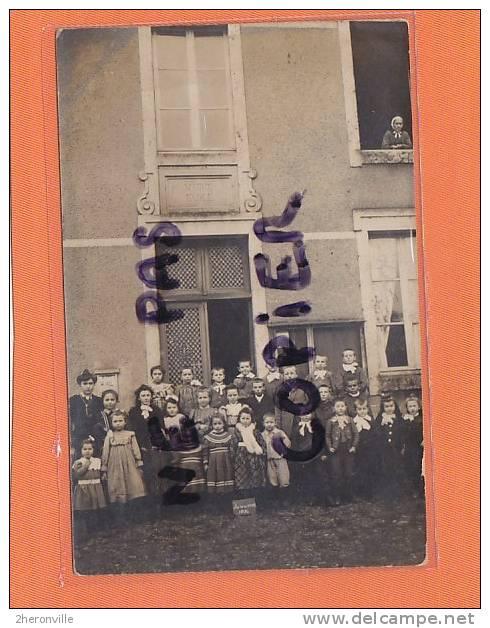 CPA  PHOTO - 52  - FARINCOURT  - L'école Du Village 1906 - Photo Prise Devant La Mairie - Autres Communes