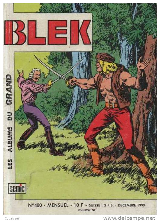 BLEK LE ROC N° 480 BE SEMIC 12-1990 - Blek