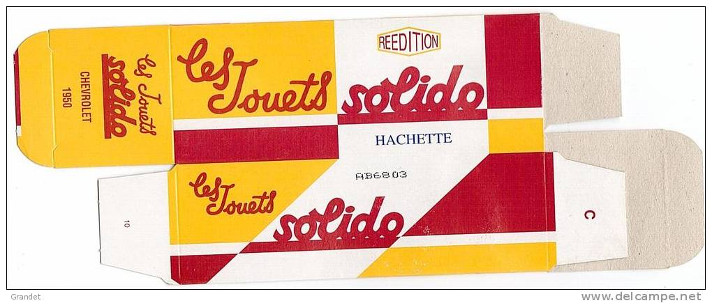 SOLIDO - BOITE VIDE  - CHEVROLET - 1950. - Autres Collections
