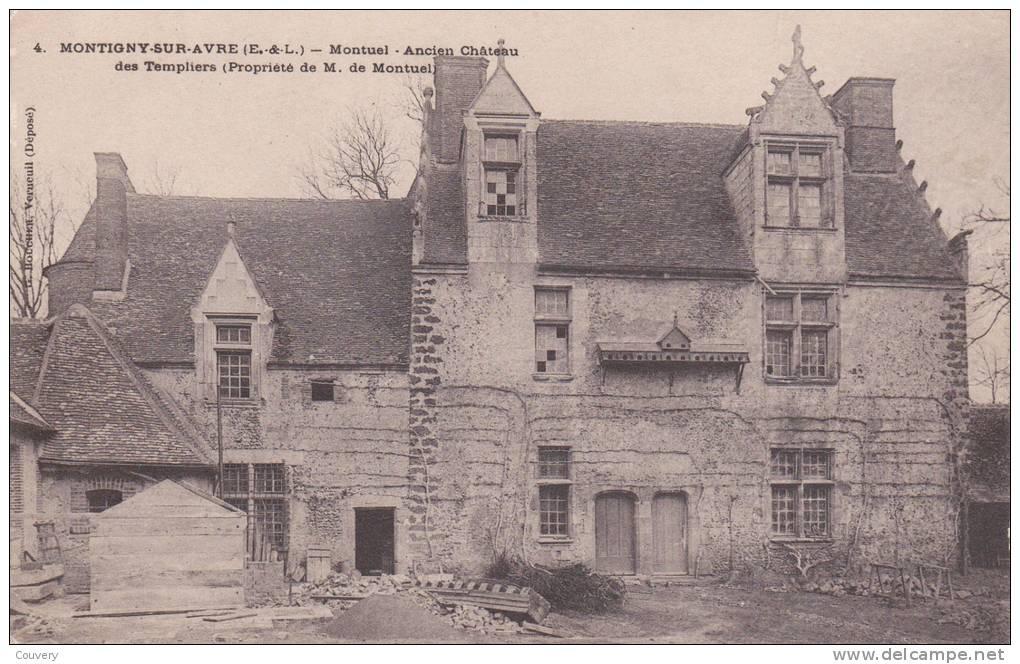 CPA 28  MONTIGNY-SUR-AVRE , Ancien Château Des Templiers. - France