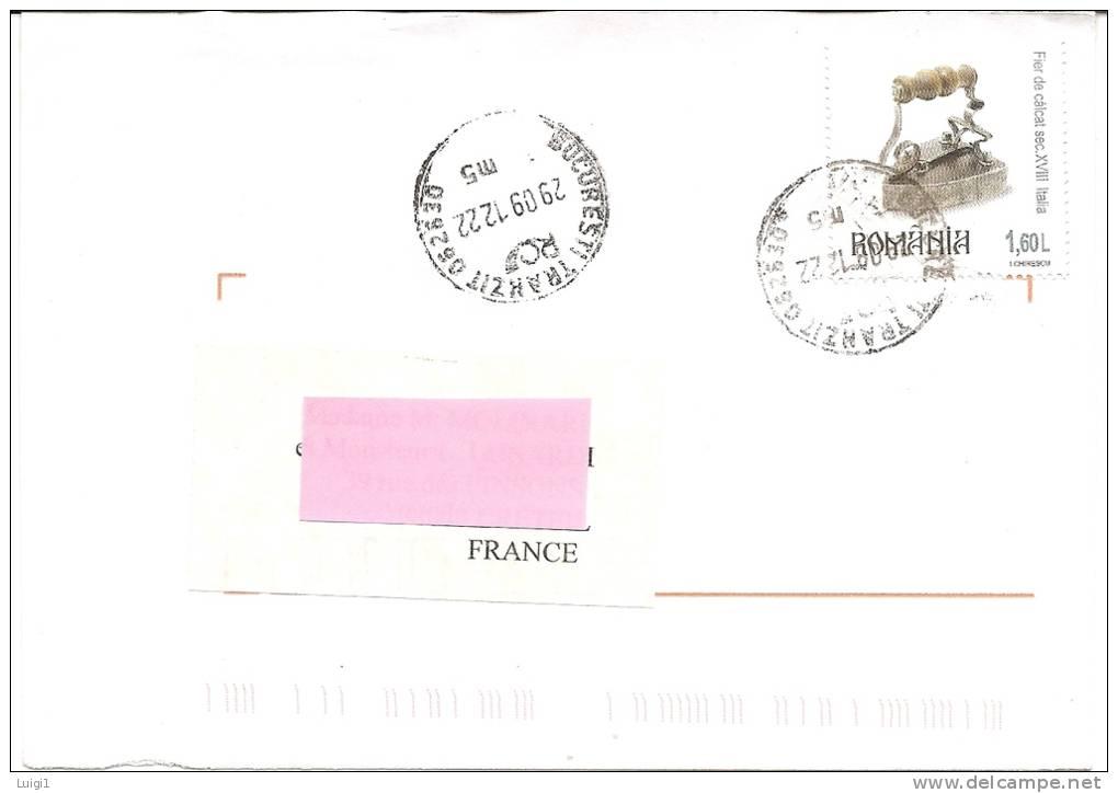 Fer à Repasser Italien Du 18ème Siècle - 1,60 L Sur Lettre Pour La France. Oblit. 29.09.2012. - Covers & Documents