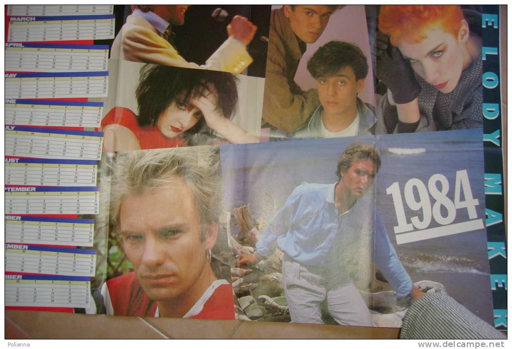 C0852 - POSTER CALENDARIO MELODY MAKER 1984/STING/SIMON LE BON/WHAM!/DAVID BOWIE - Manifesti & Poster