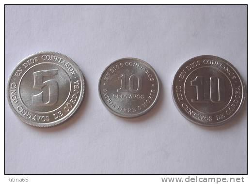 TRIS !!! NICARAGUA N. 3 MONETE FDC !!! - Nicaragua