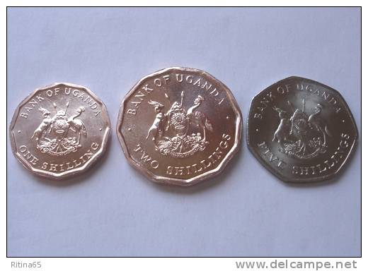 TRIS !!! UGANDA N. 3 MONETE FDC !!! - Uganda