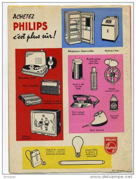 Protège-cahier, Philips, Illustrateur Bob, Joie Et Confort Dans La Maison, Tourne-disquesn,lampes,El Gé - Electricité & Gaz