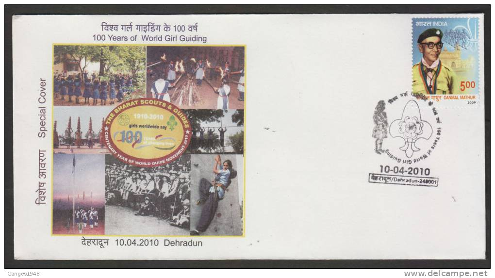 INDIA  2010 - 100 Years Of Girl Guiding  Dehradun  Cover  #  36855   Indien Inde - Scouting