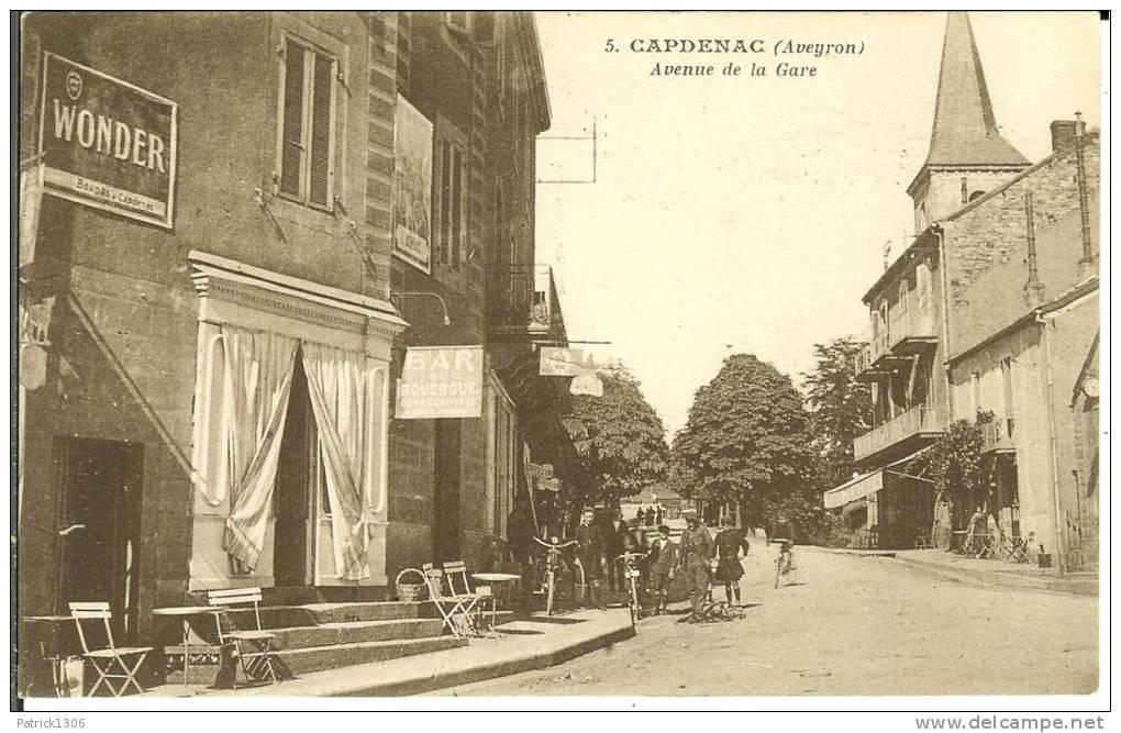 CPA  CAPDENAC, Avenue De La Gare  6685 - Altri Comuni