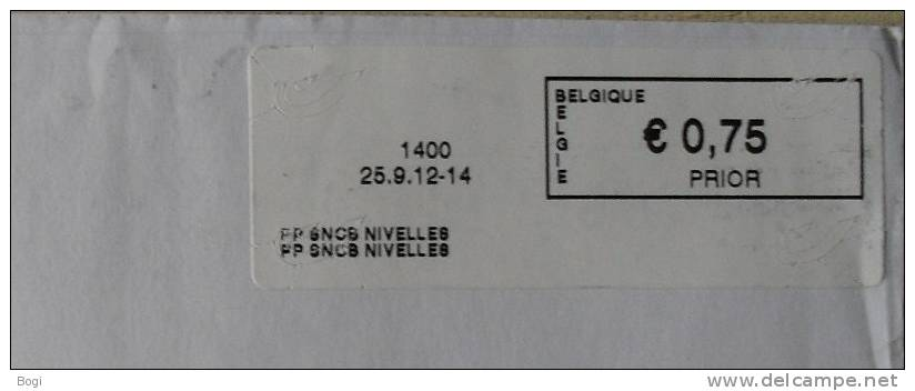 België 2012 PP SNCB Nivelles 1400 - Nieuw Logo Bpost - Frankeervignetten
