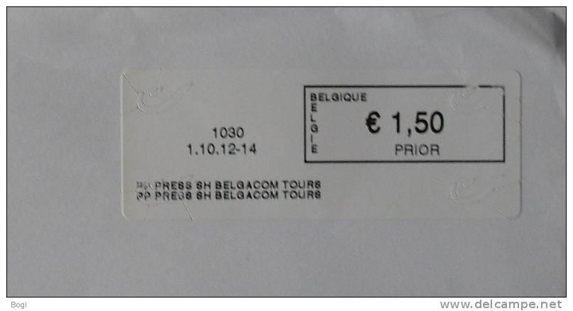 België 2012 PP Press SH Belgacom Tours 1030 - Nieuw Logo Bpost - Fragment - Frankeervignetten