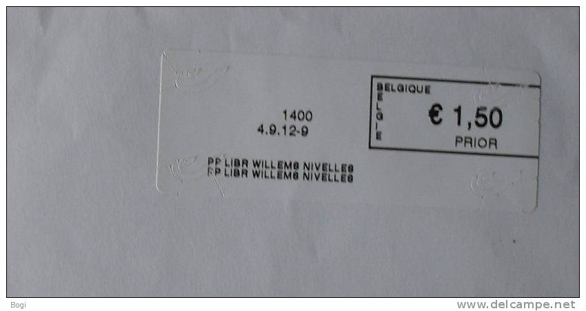 België 2012 PP Libr Willems Nivelles 1400 - Nieuw Logo Bpost - Fragment - Frankeervignetten