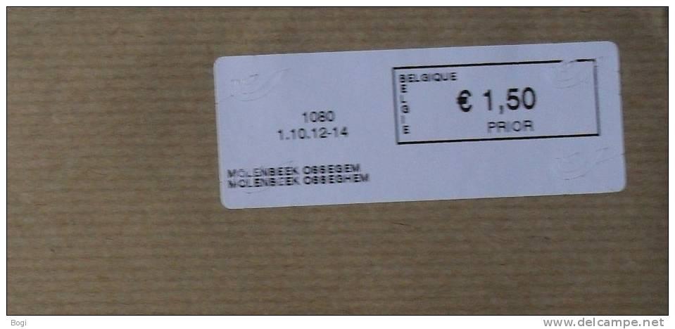 België 2012 Molenbeek Ossegem 1080 - Nieuw Logo Bpost - Fragment - Frankeervignetten