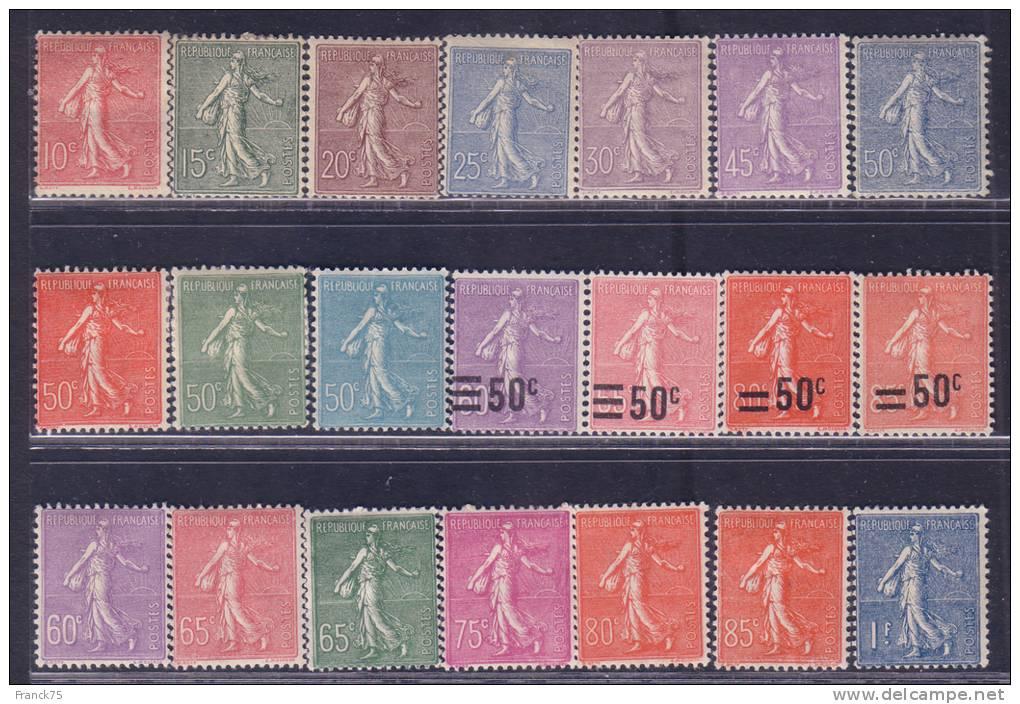 *PROMO* Collection Complète ´Semeuse Lignée´ Neufs * TB (Cote: +500€) - 1903-60 Säerin, Untergrund Schraffiert