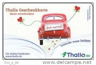 Germany - Allemagne - Thalia  Just Married Car - Carte Cadeau - Carta Regalo - Gift Card - Geschenkkarte - Frankreich