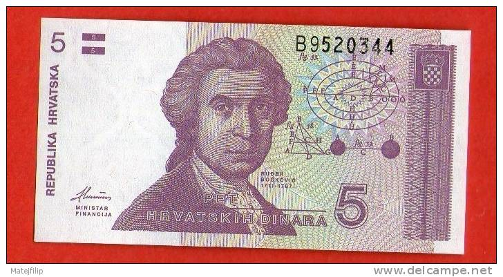 CROATIA HRVATSKA 5  Dinar  HRDA  1991 .g. - UNC - Andere