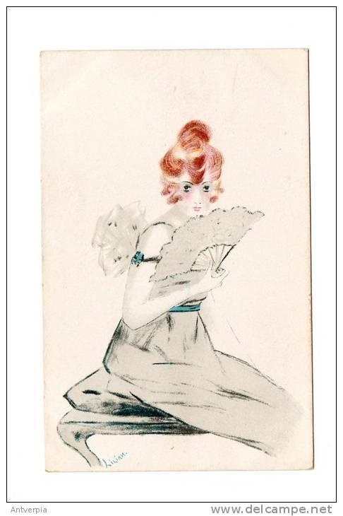 PAUL HECKSCHER Mooie Art Deco Kaart  Modiste Ongelopen  Zie Scan - Künstlerkarten