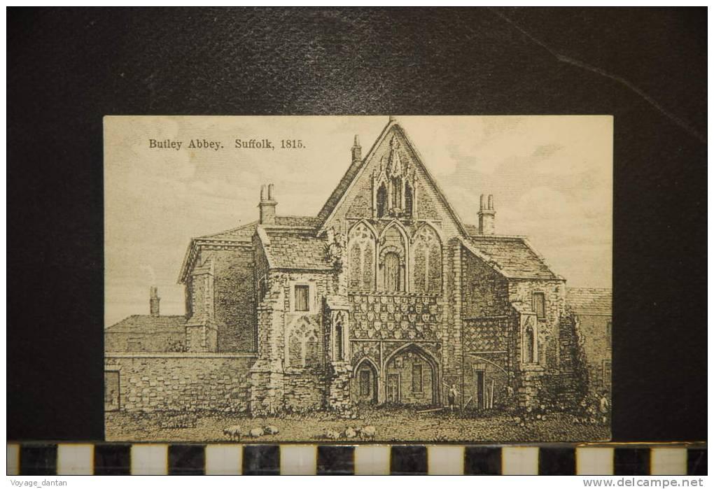 CP, Royaume Uni, Angleterre, Butley Abbey Suffolk 1815 - Non Classés