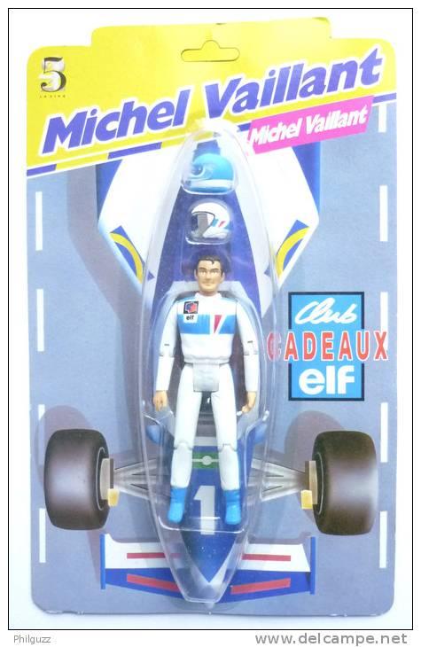 FIGURINE PUBLICITAIRE ELF MICHEL VAILLANT EN BLISTER NEUF Avec Ses 2 Casques - Figurines