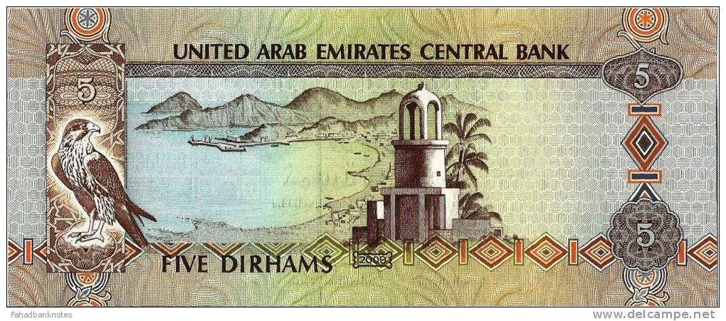 UNITED ARAB EMIRATES 5 Dirhams New 2009 UNC - Emirats Arabes Unis