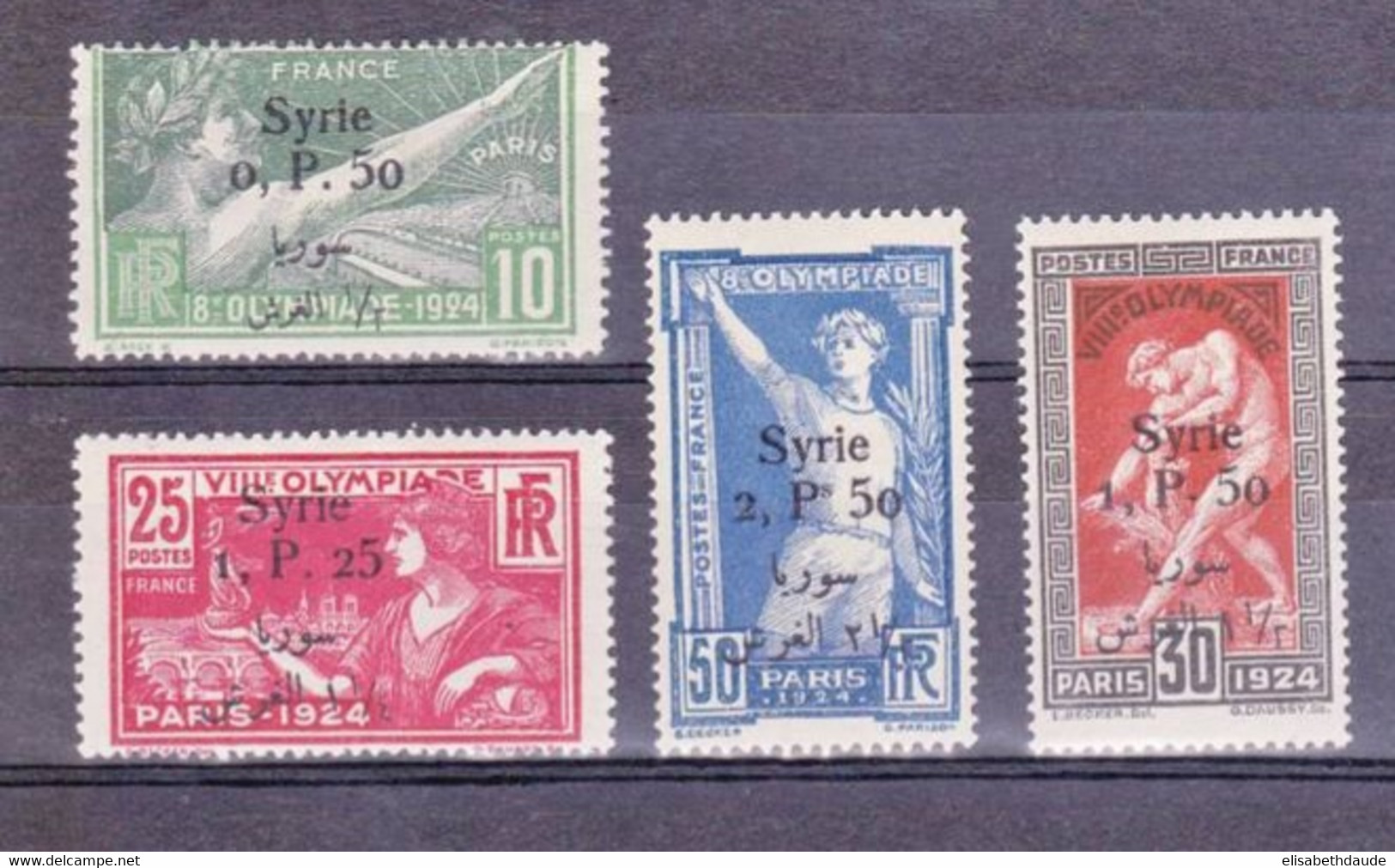 SYRIE - YVERT N°149/152 * - COTE = 168 EUROS - JEUX OLYMPIQUES - Syria (1919-1945)