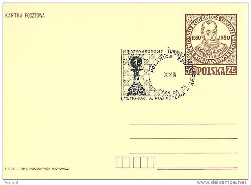 #. POLAND 1985. CHESS - Scacchi