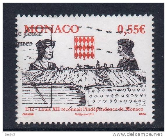Monaco, Yv  Jaar 2012,   Gestempeld, Zie Scan - Used Stamps