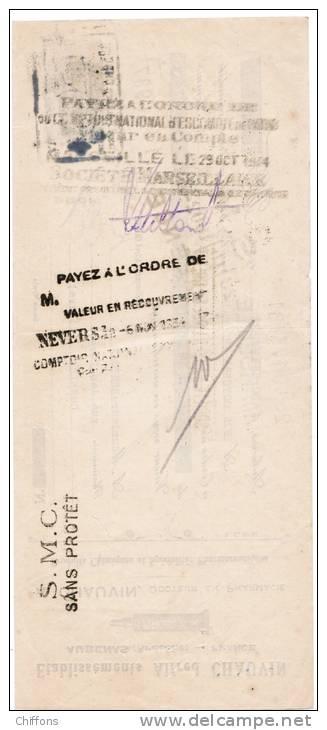 1934 ETS ALFRED CHAUVIN AUBENAS ARDECHE DOCTEUR EN PHARMACIE PRODUITS CHIMIQUES ET SPECIALITES PHARMACEUTIQUES - Letras De Cambio