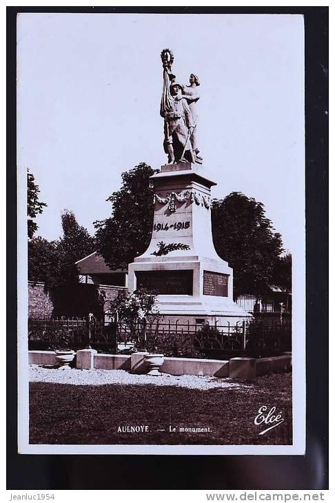 AULNOYE MONUMENT CP PHOTO  1958 - Aulnoye