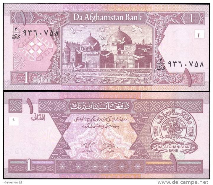 AFGHANISTAN 64 1 Afghanis Banknotes Uncirculated UNC - Andere