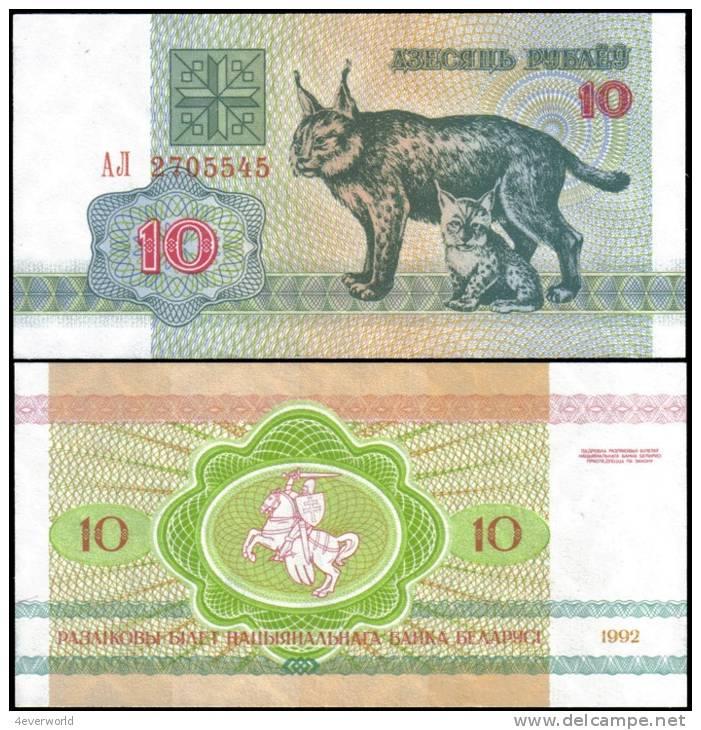 Belarus 1992 10 Rublei Cat Banknotes Uncirculated UNC - Andere