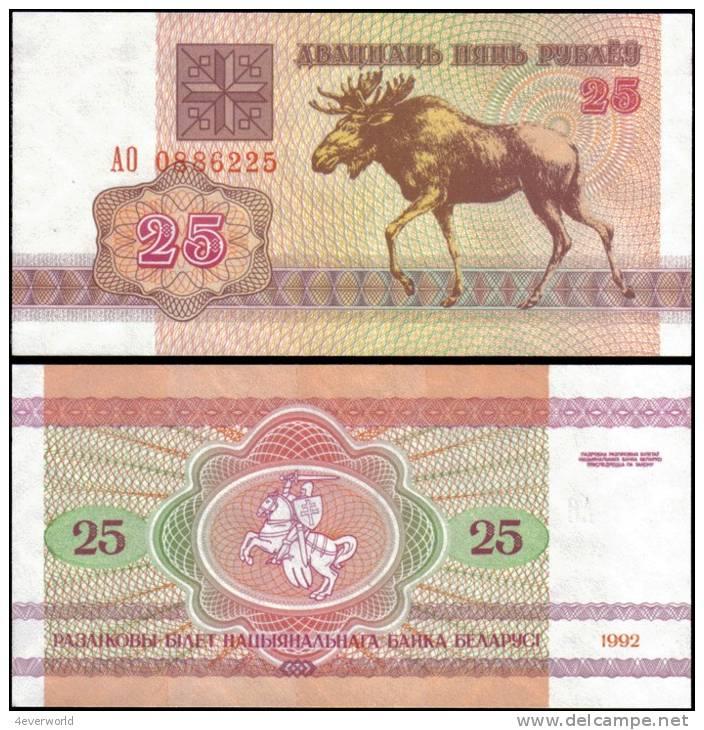 Belarus 1992 25 Rublei Banknotes Uncirculated UNC - Andere