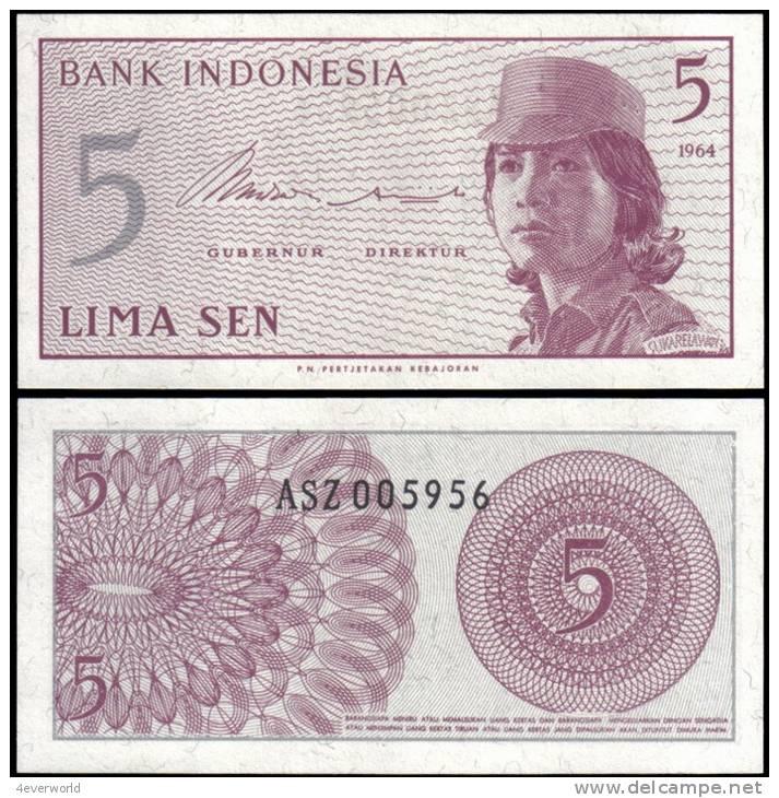 Indonesia 1964 5 Sen Banknotes Uncirculated UNC - Andere