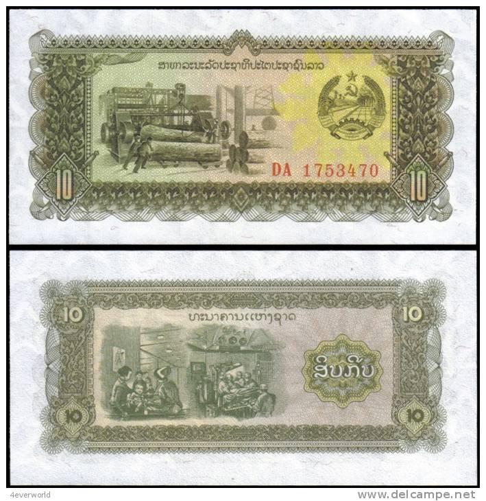 Laos 10 Kip Banknotes Uncirculated UNC - Andere