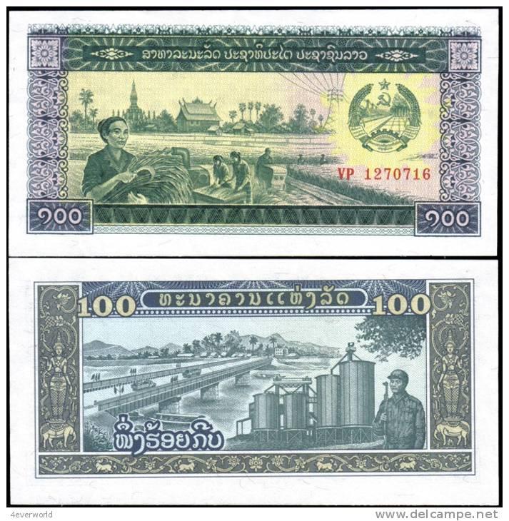Laos 100 Kip Banknotes Uncirculated UNC - Otros